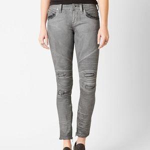 NWT Rock Revival moto Naline silver skinny jeans